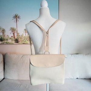 Vintage cream backpack